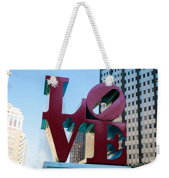 Robert Indiana Love Sculpture Weekender Tote Bag