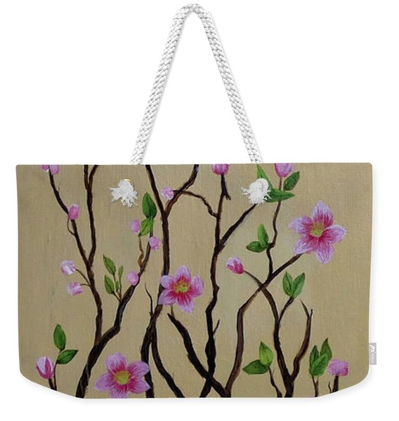 Robin And Spring Blossoms Weekender Tote Bag
