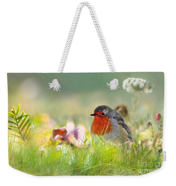 Robin Red Breast Weekender Tote Bag