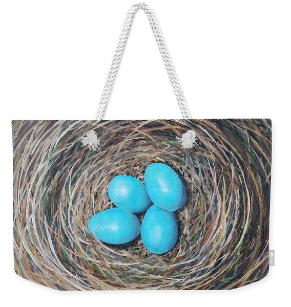 Robin's Eggs Weekender Tote Bag