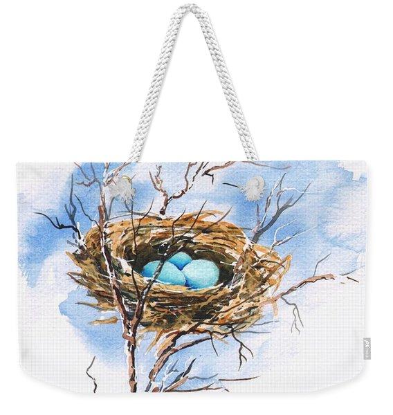Robin's Nest Weekender Tote Bag