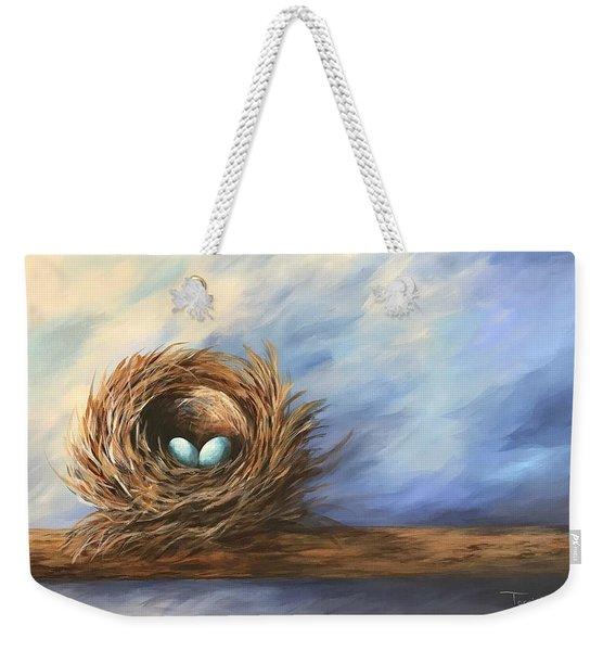 Robin's Two Eggs Weekender Tote Bag