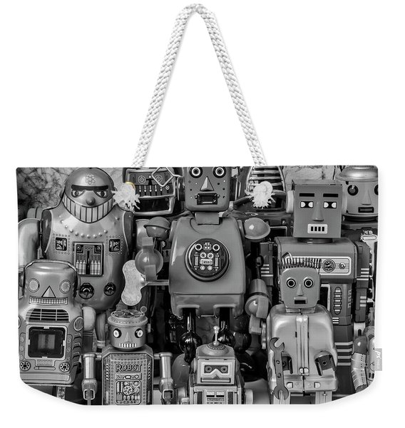 Robot Family Weekender Tote Bag