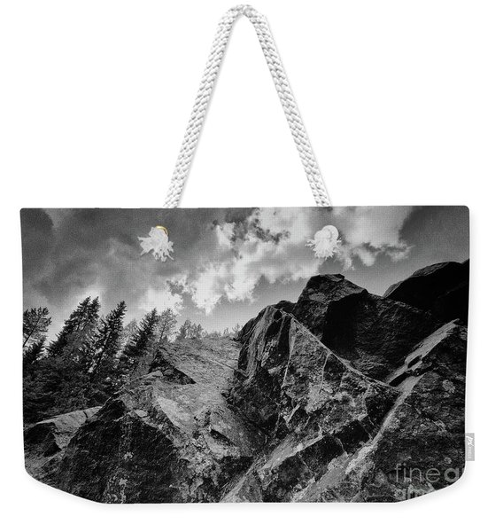 Rock #9542 Bw Version Weekender Tote Bag