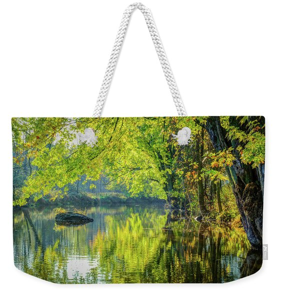 Rock At Sunrise Weekender Tote Bag