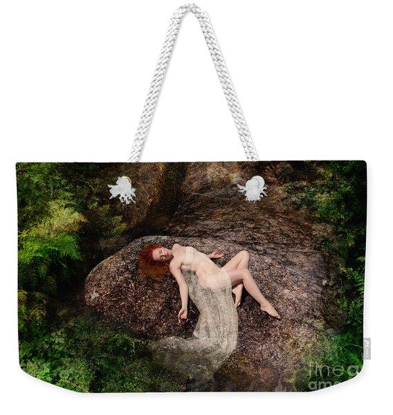 Rock Bathing Weekender Tote Bag