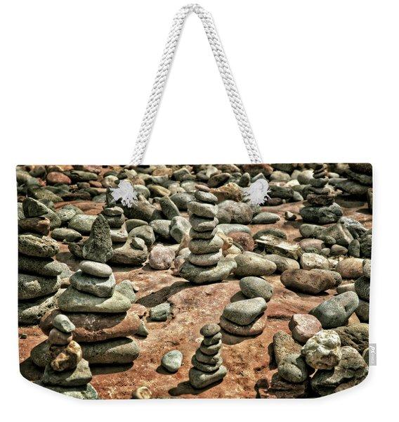 Rock Cairns At Buddha Beach - Sedona Weekender Tote Bag
