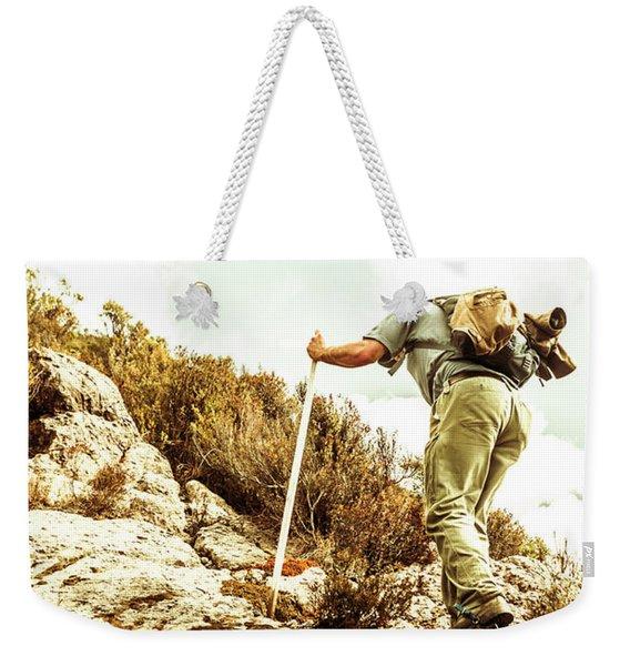 Rock Climbing Mountaineer Weekender Tote Bag