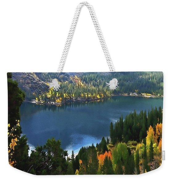 Rock Creek Lake In Fall Weekender Tote Bag