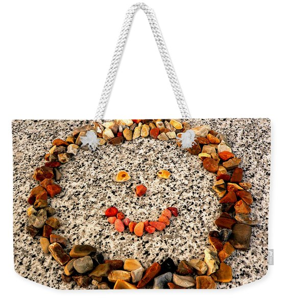 Rock Face On Granite Weekender Tote Bag