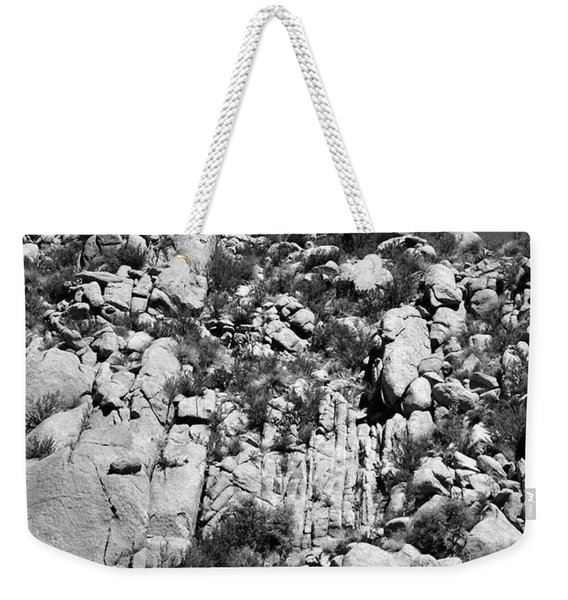 Rock Face Sandia Mountain Weekender Tote Bag