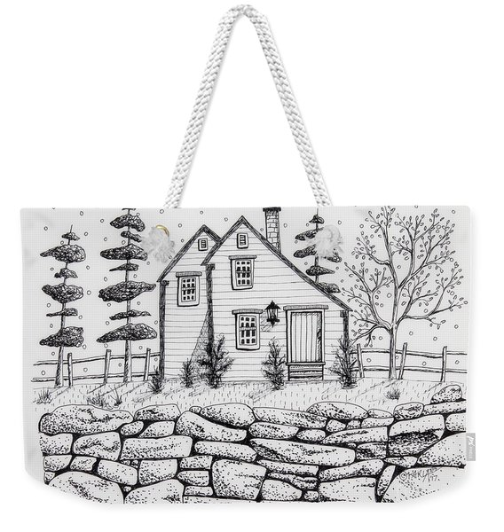 Rock Fence Weekender Tote Bag