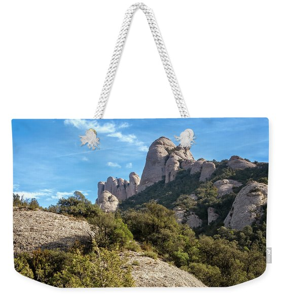 Rock Formations Montserrat Spain II Weekender Tote Bag