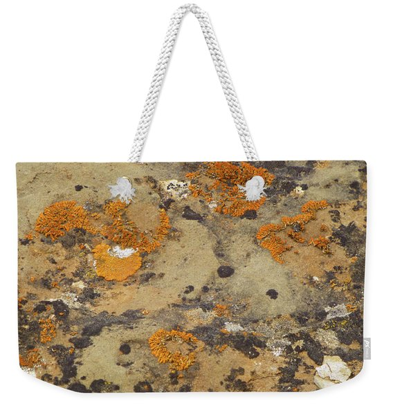 Weekender Tote Bag featuring the photograph Rock Pattern by Cris Fulton