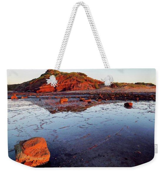 Rock Shelf At Long Reef 1 Weekender Tote Bag