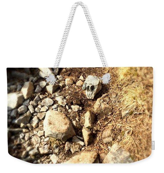 Rock Skull Weekender Tote Bag