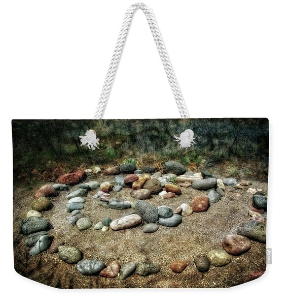 Rock Spiral At Buddha Beach - Sedona Weekender Tote Bag