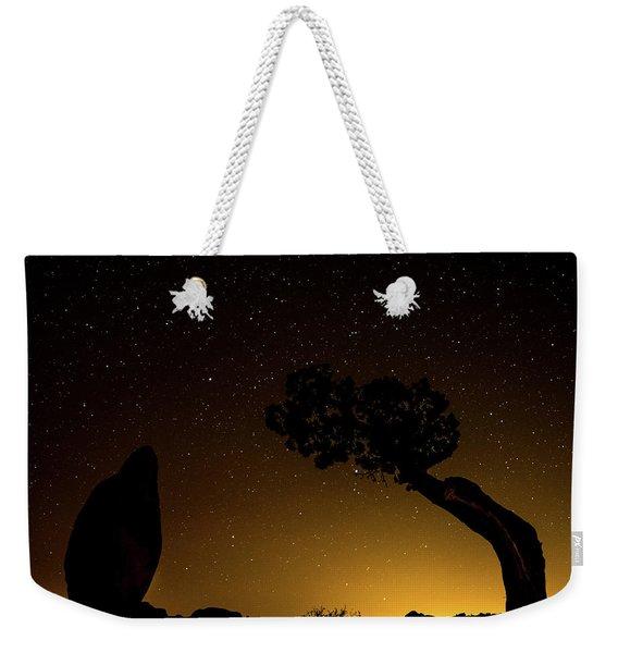 Rock, Tree, Friends Weekender Tote Bag