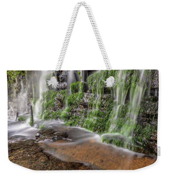 Rock Wall Waterfall Weekender Tote Bag