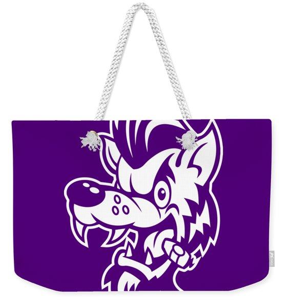 Rockabilly Wolf Head Weekender Tote Bag