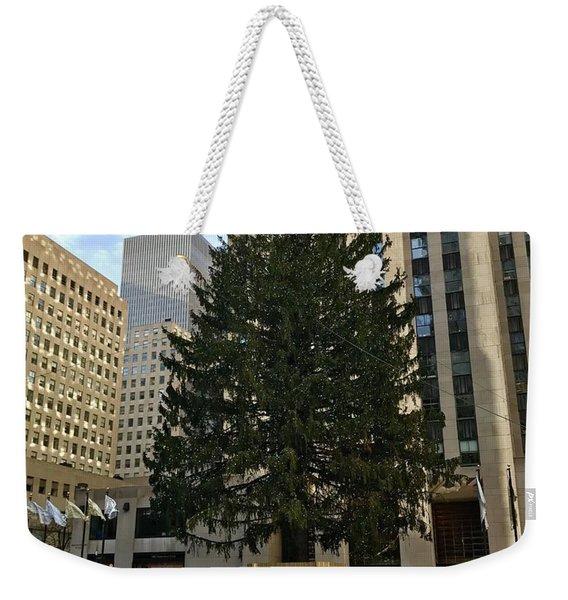 Rockefeller Center Christmas Tree Weekender Tote Bag