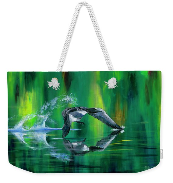 Rocket Feathers Weekender Tote Bag