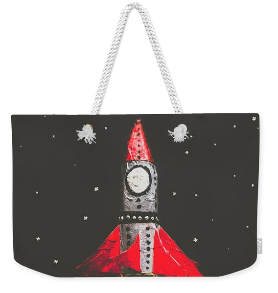 Rockets And Cartoon Puzzle Star Dust Weekender Tote Bag