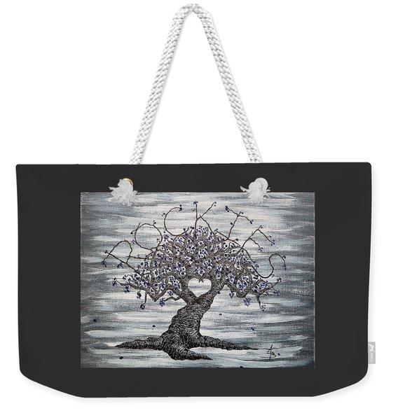 Weekender Tote Bag featuring the drawing Rockies Love Tree by Aaron Bombalicki