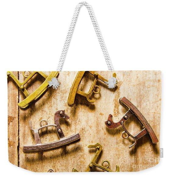 Rocking Horses Art Weekender Tote Bag