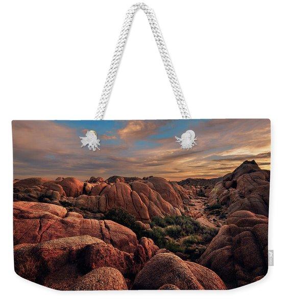 Rocks At Sunrise Weekender Tote Bag