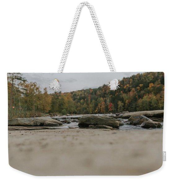 Rocks On Cumberland River Weekender Tote Bag