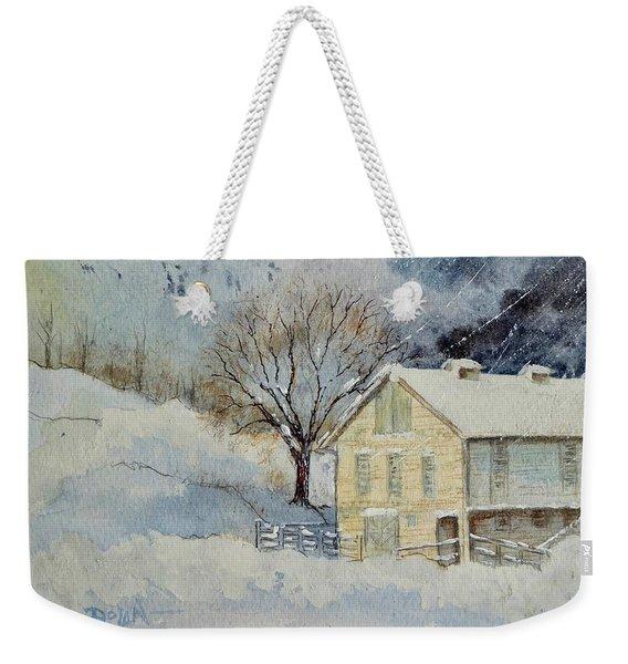 Rockville Farm In Snowstorm Weekender Tote Bag