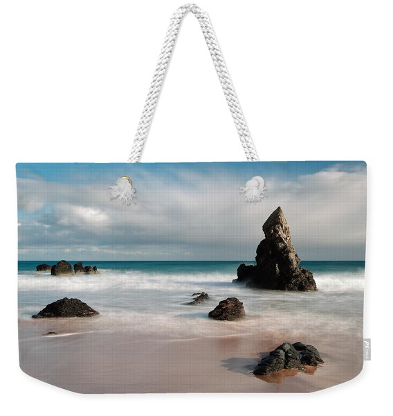 Rocky Beach On Sango Bay Weekender Tote Bag