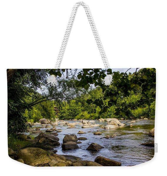 Rocky Broad River Weekender Tote Bag