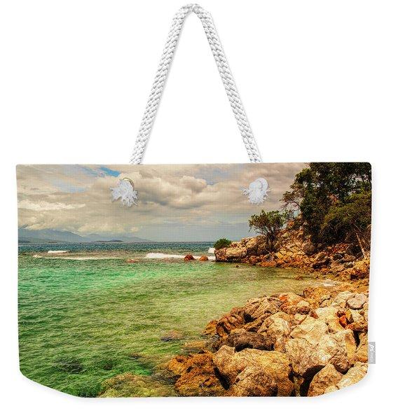 Rocky Coast Weekender Tote Bag