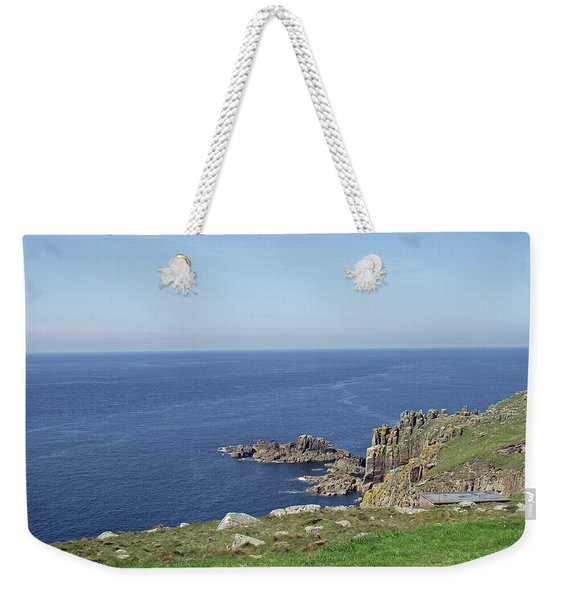 Rocky Coastline At Land's End Weekender Tote Bag