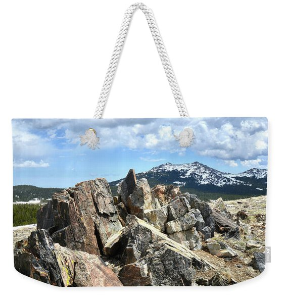Rocky Crest At Big Horn Pass Weekender Tote Bag