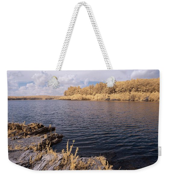 Weekender Tote Bag featuring the photograph Rocky Ir by Brian Hale