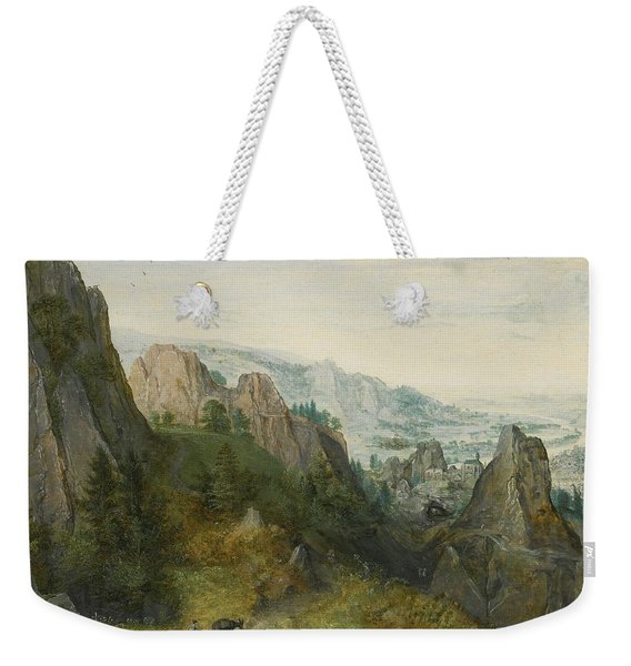 Rocky Landscape With Travellers Weekender Tote Bag