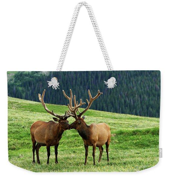 Rocky Mountain Elk 2 Weekender Tote Bag