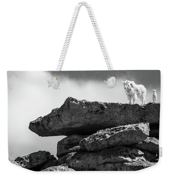 Rocky Mountain Goat And Kid Weekender Tote Bag