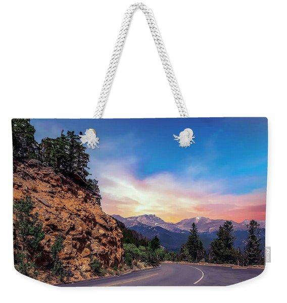 Rocky Mountain High Road Weekender Tote Bag