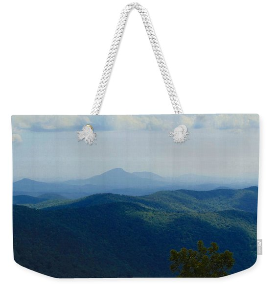 Rocky Mountain Overlook On The At Weekender Tote Bag