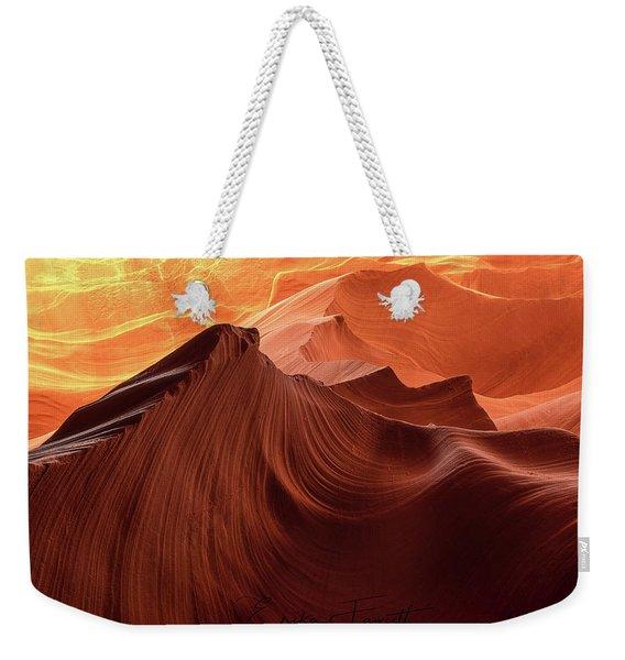 Rocky Mountain Sunrise Weekender Tote Bag