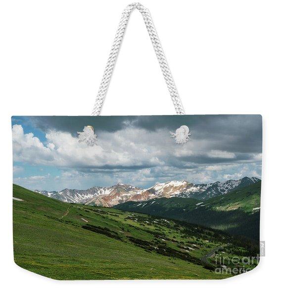 Rocky Mountain View Weekender Tote Bag