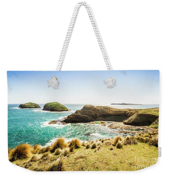 Rocky Ocean Capes Weekender Tote Bag