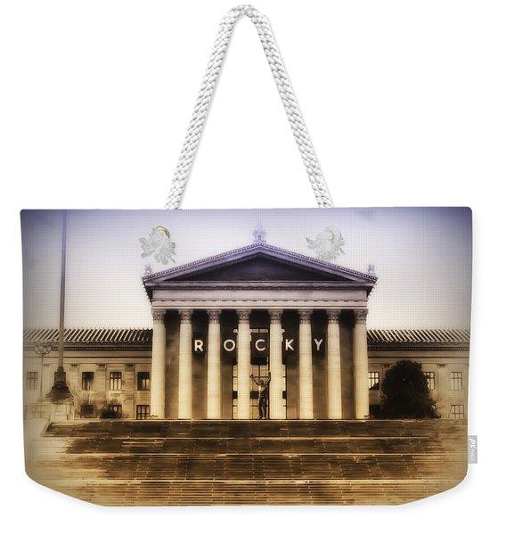 Rocky On The Art Museum Steps Weekender Tote Bag