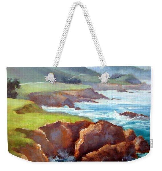 Rocky Point Afternoon Big Sur Weekender Tote Bag