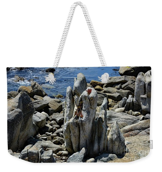 Rocky Remains At Carmel Point Weekender Tote Bag