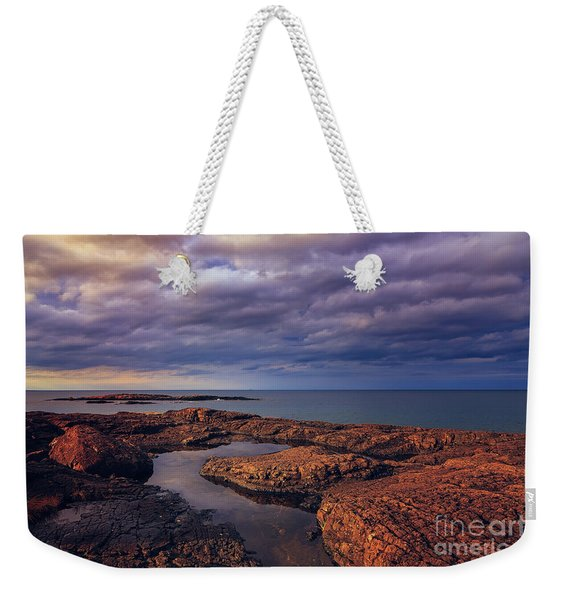 Rocky Storm Two Weekender Tote Bag